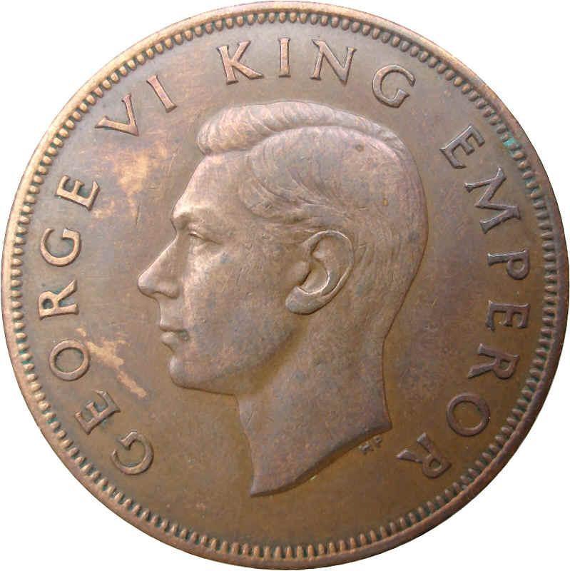 New Zealand 1 Penny (1940-1947 George VI)