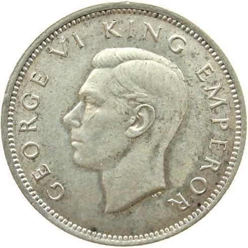 New Zealand 1 Shilling (1937-1946 George VI)