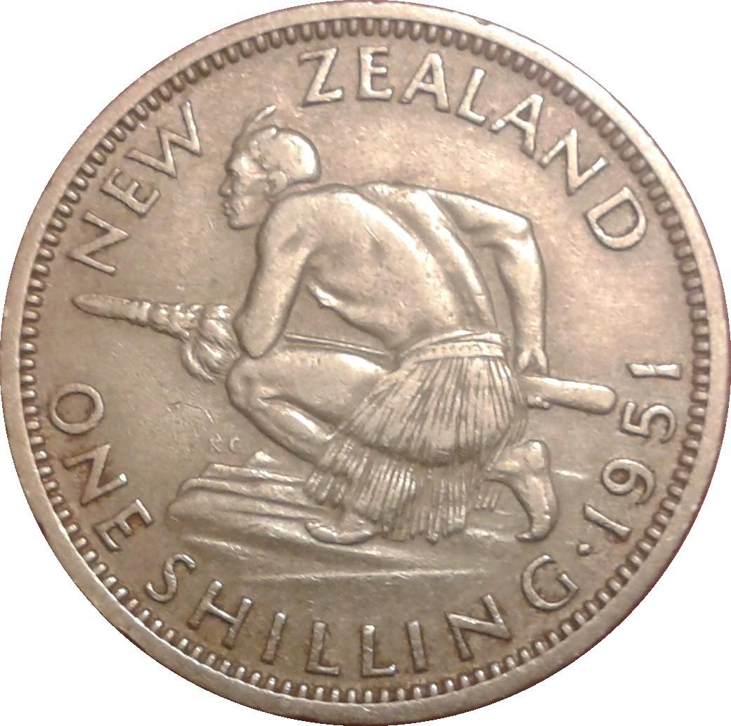 New Zealand 1 Shilling (1948-1952 George VI)