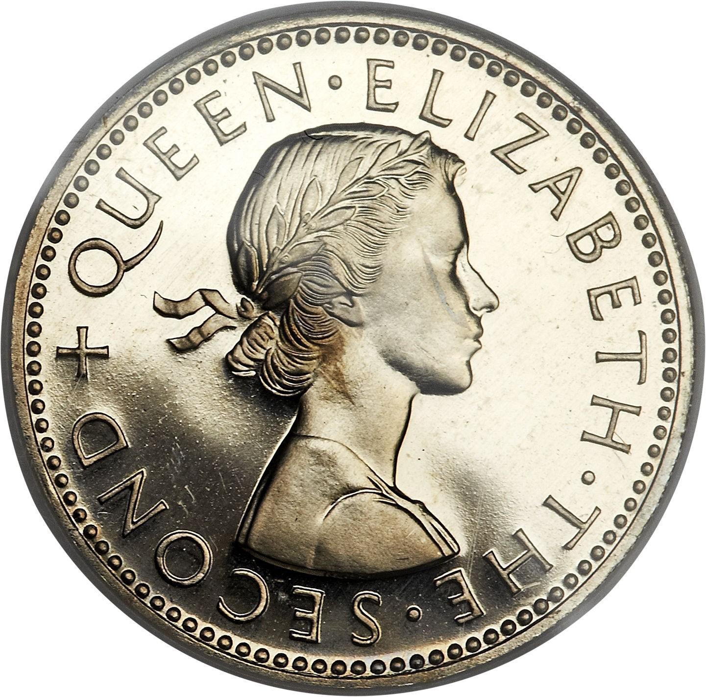 New Zealand 1 Shilling (1953-1965 Elizabeth II)
