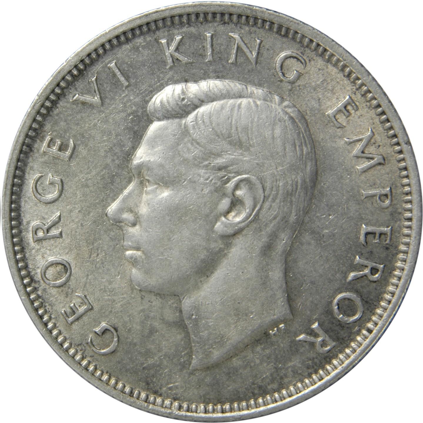 New Zealand 1 Florin (1937-1946 George VI)