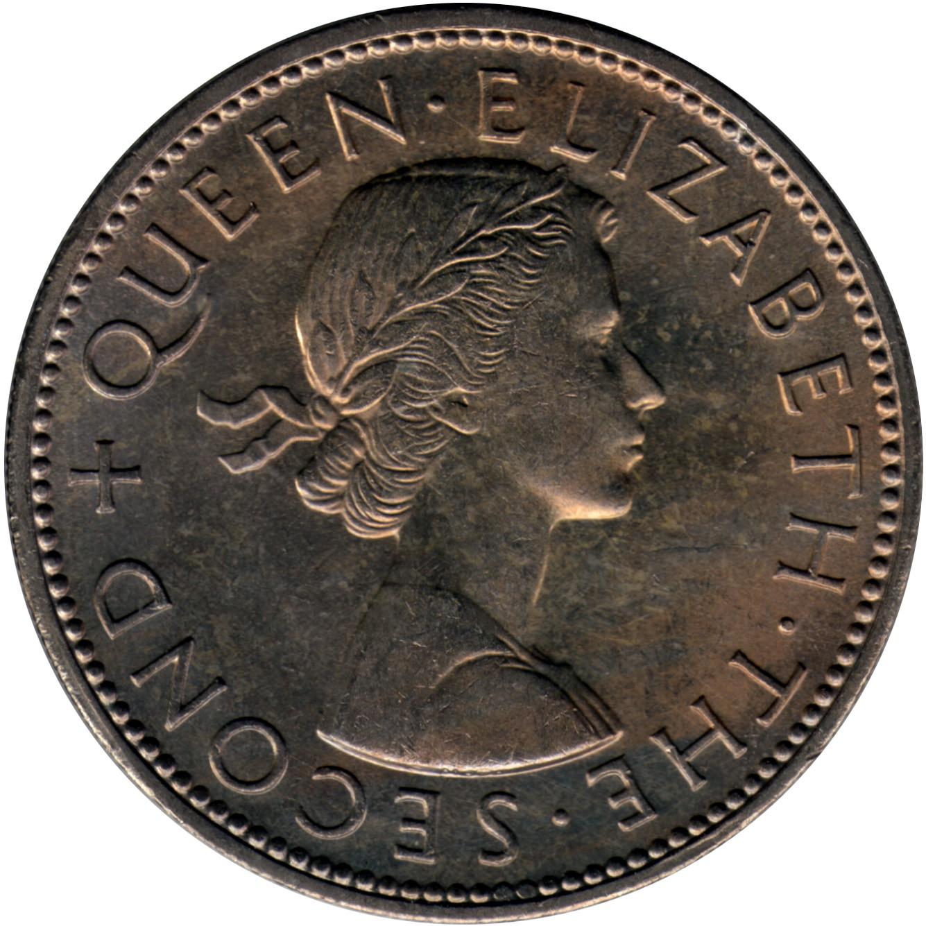 New Zealand 1 Florin (1953-1965 Elizabeth II)