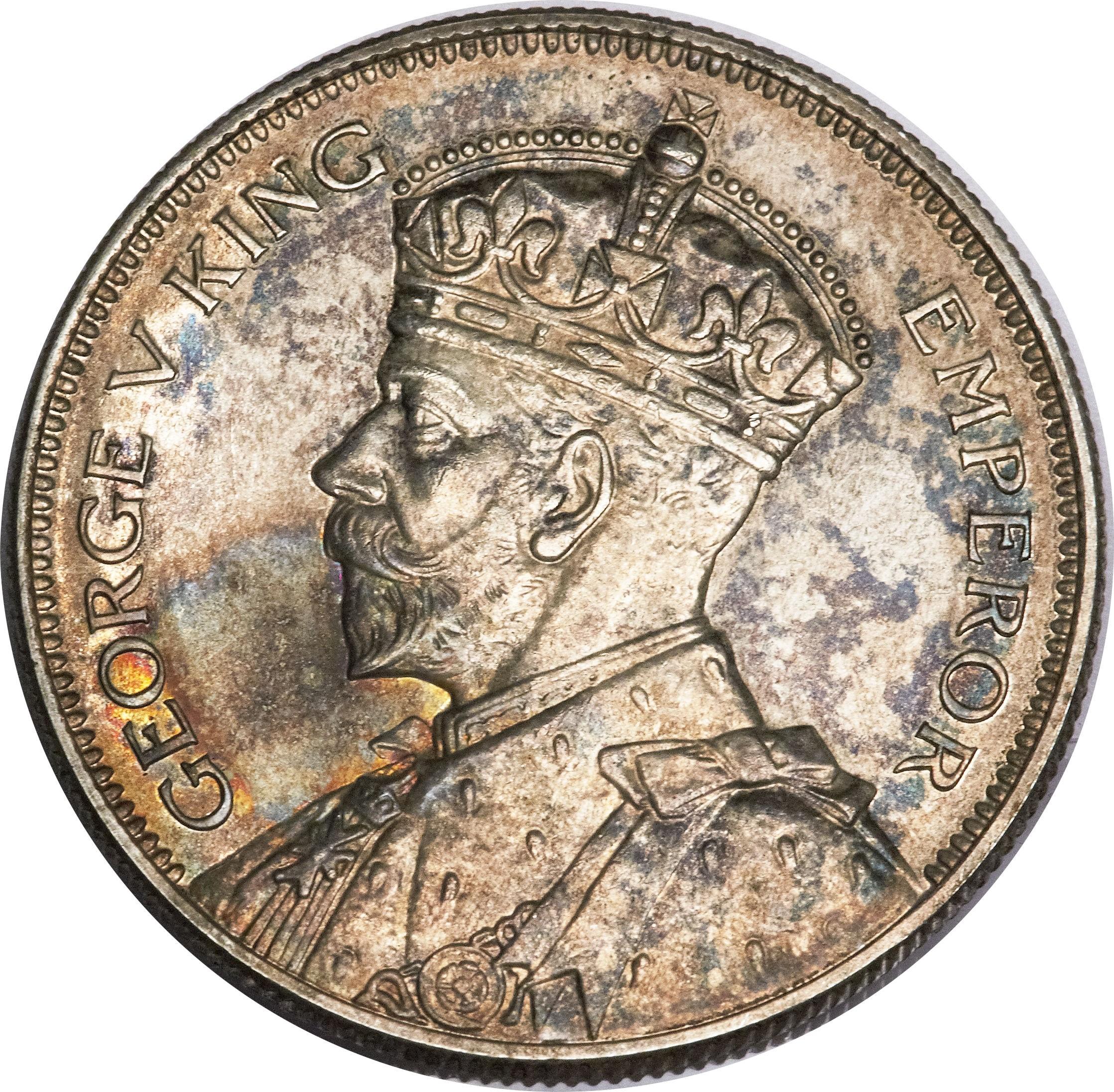 New Zealand ½ Crown (1933-1935 George V)