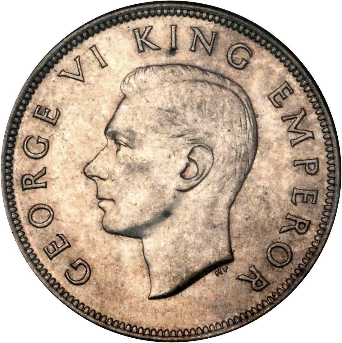 New Zealand ½ Crown (1937-1946 George VI)