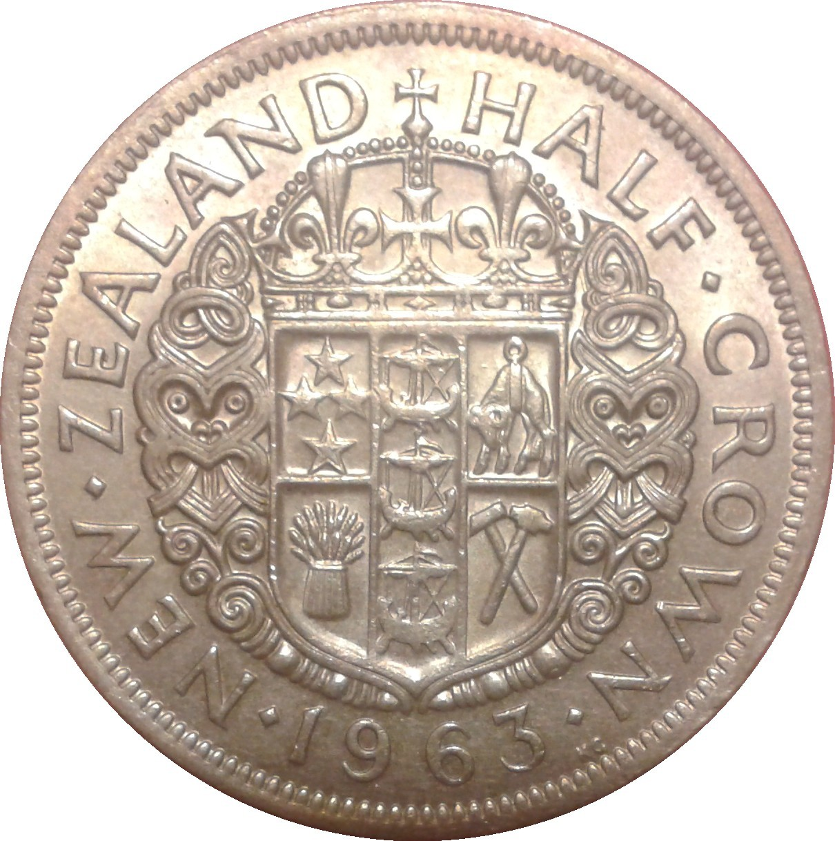 New Zealand ½ Crown (1953-1965 Elizabeth II)