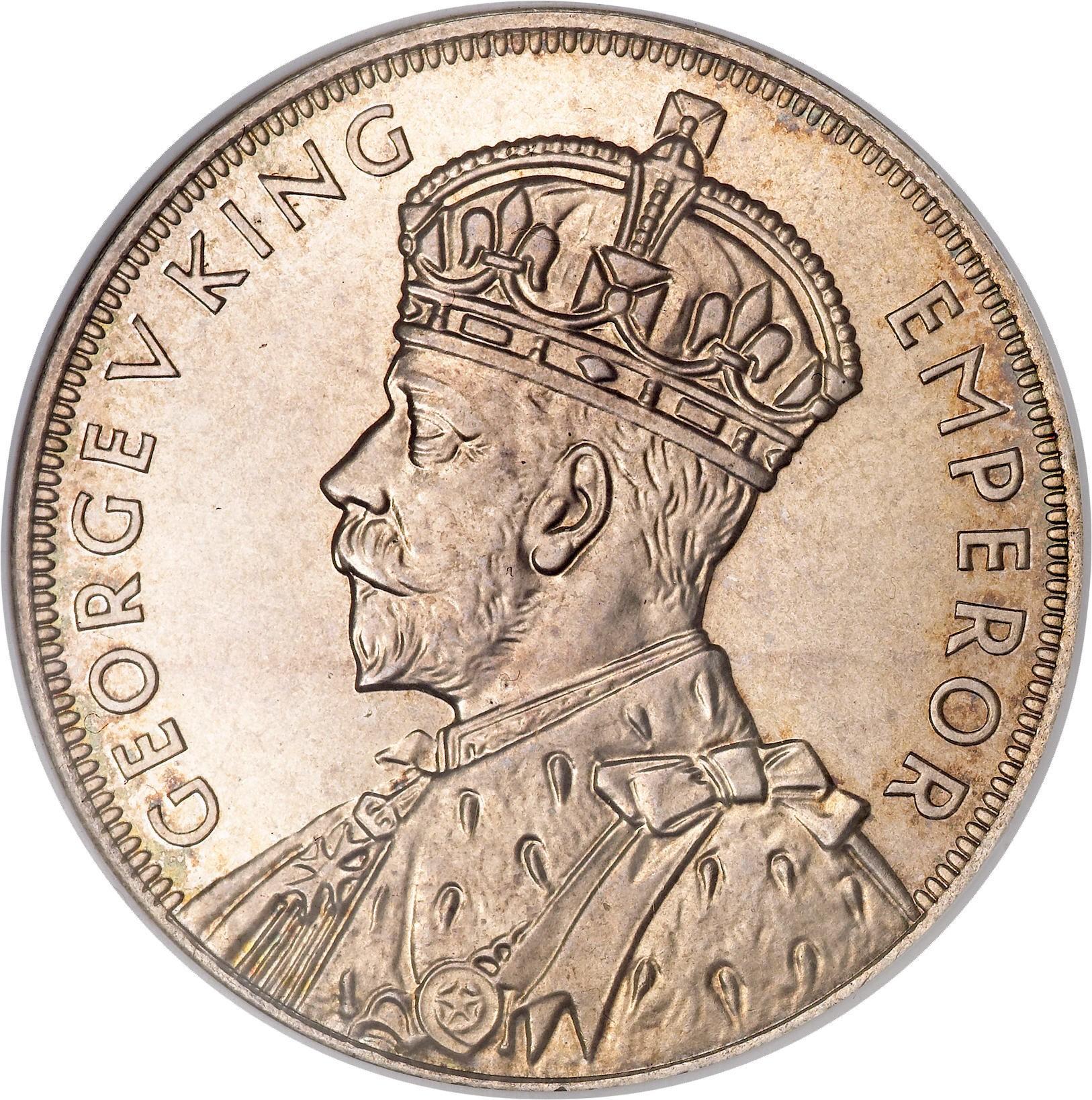 New Zealand 1 Crown (1935 George V Waitangi)