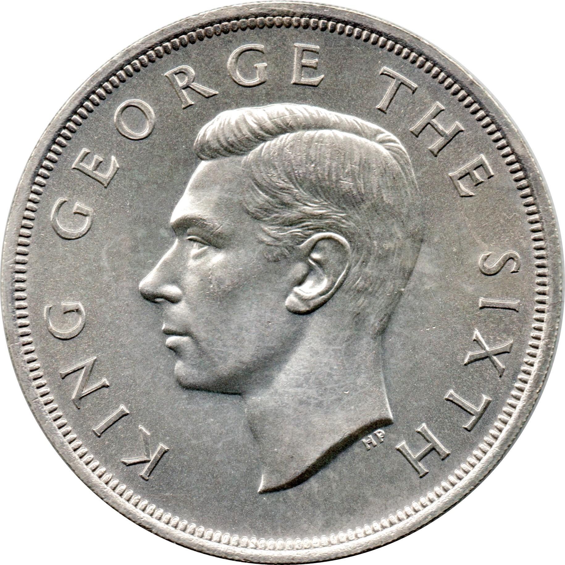 New Zealand 1 Crown (1949 George VI Royal Visit)