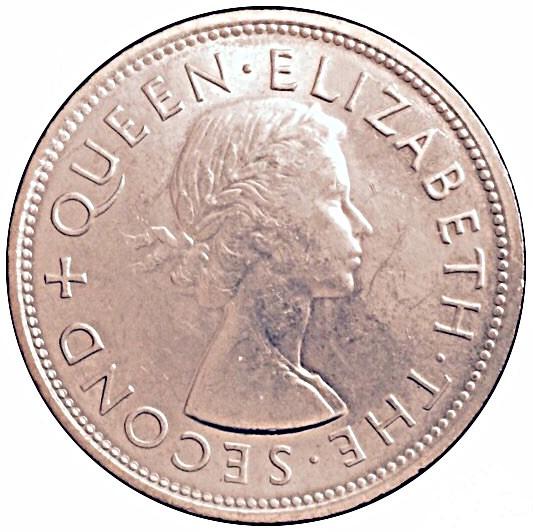 New Zealand 1 Crown (1953 Elizabeth II Coronation)