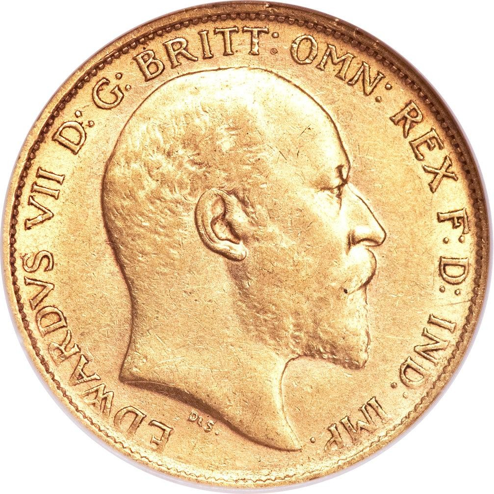 Australia ½ Sovereign (1902-1910 Edward VII)