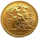 Australia ½ Sovereign (1911-1918 George V)