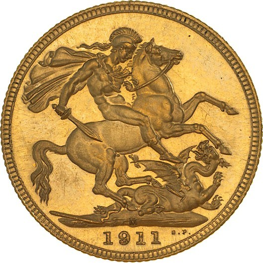Australia 1 Sovereign (1911-1928 George V)