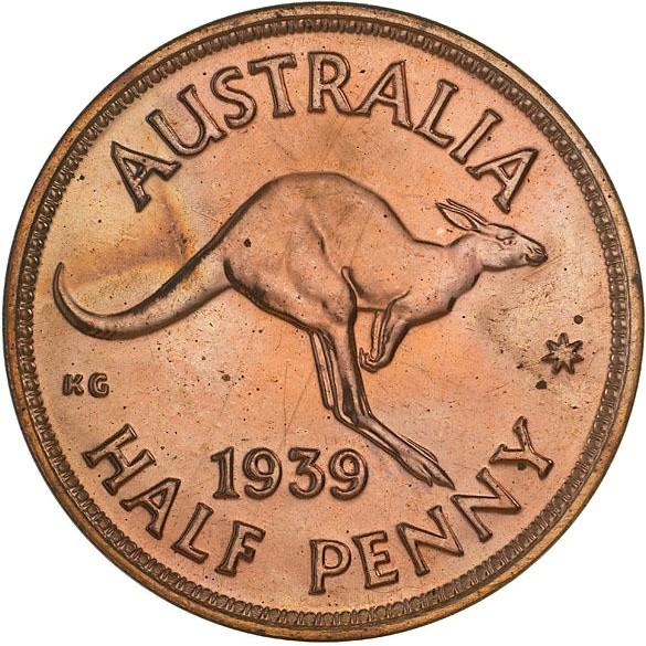 Australia ½ Penny (1939-1948 George VI)