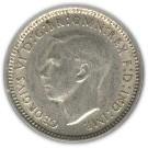 Australia 3 Pence (1947-1948 George VI)