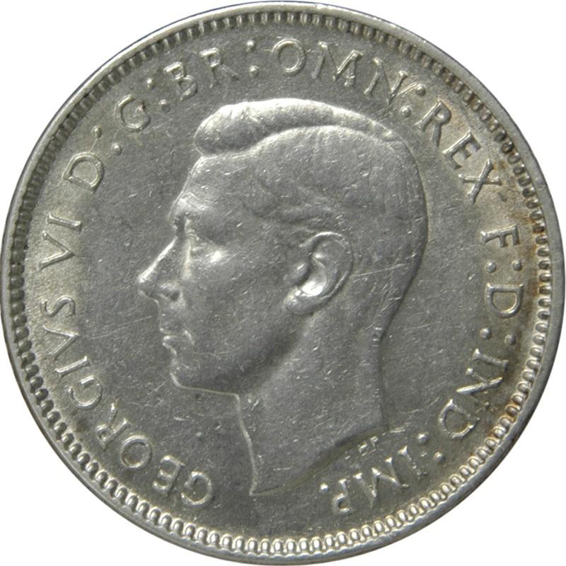 Australia 6 Pence (1938-1945 George VI)