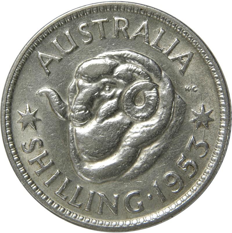 Australia 1 Shilling (1953-1954 Elizabeth II)