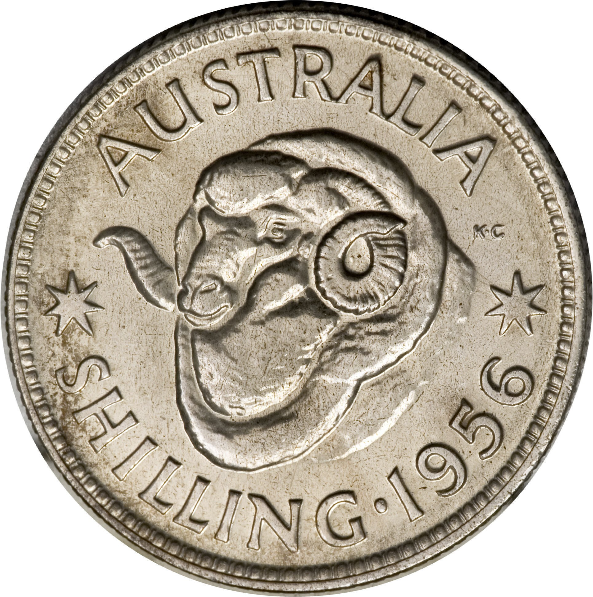 Australia 1 Shilling (1955-1963 Elizabeth II)