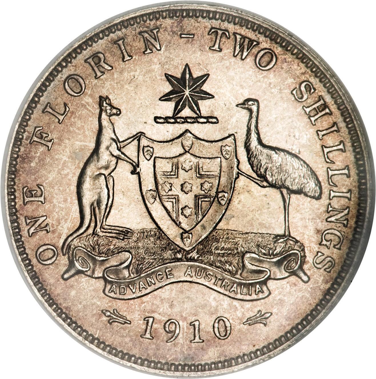Australia 1 Florin (1910 Edward VII)