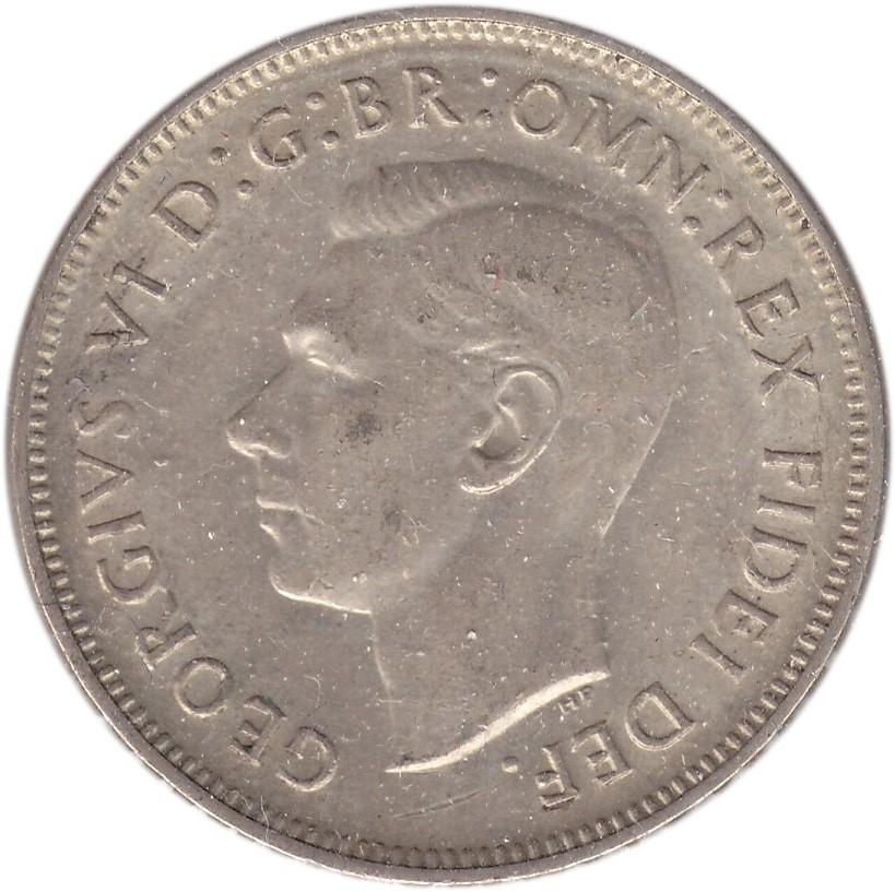 Australia 1 Florin (1951-1952 George VI)