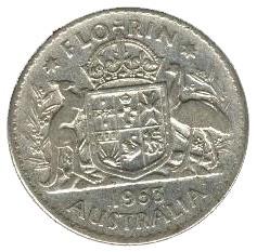 Australia 1 Florin (1953-1954 Elizabeth II)