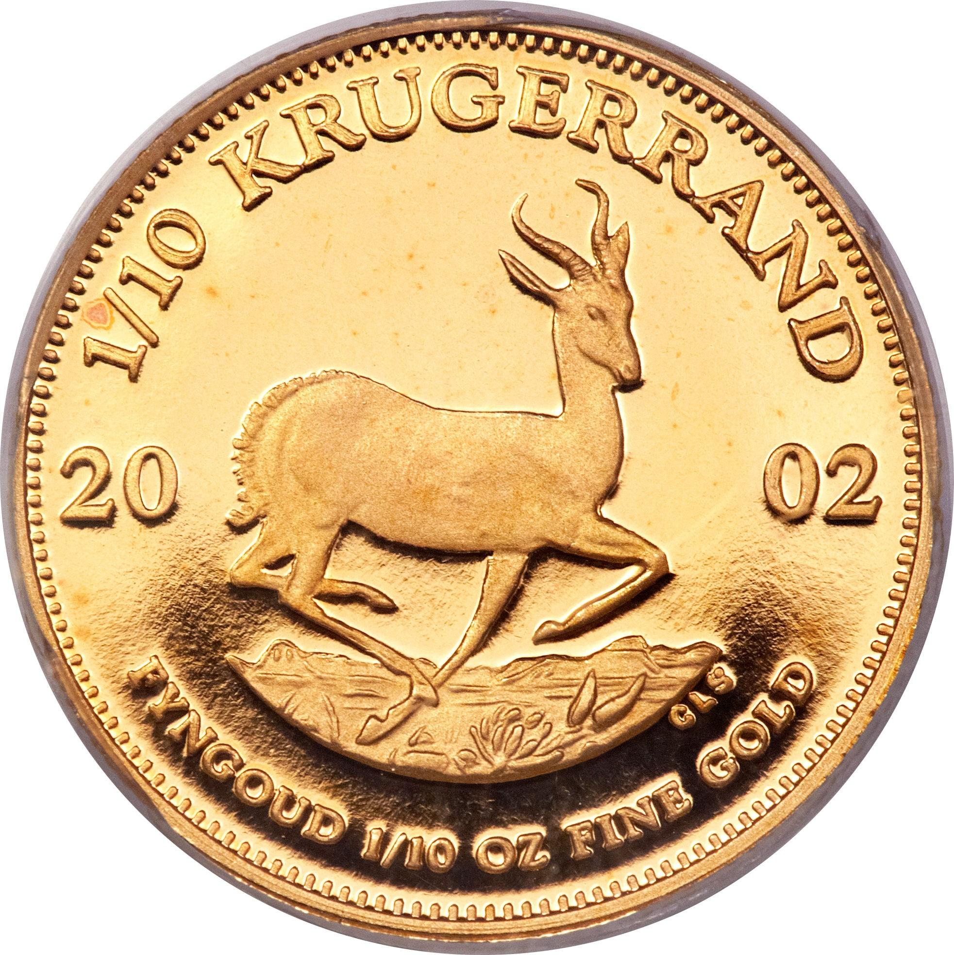 South Africa 1/10 Ounce Krugerrand (1980-2018)