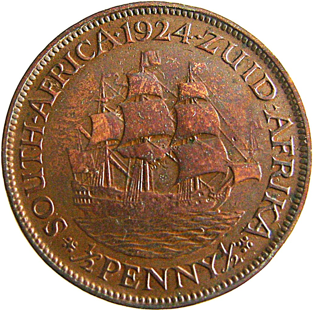 South Africa ½ Penny (1923-1926 George V)
