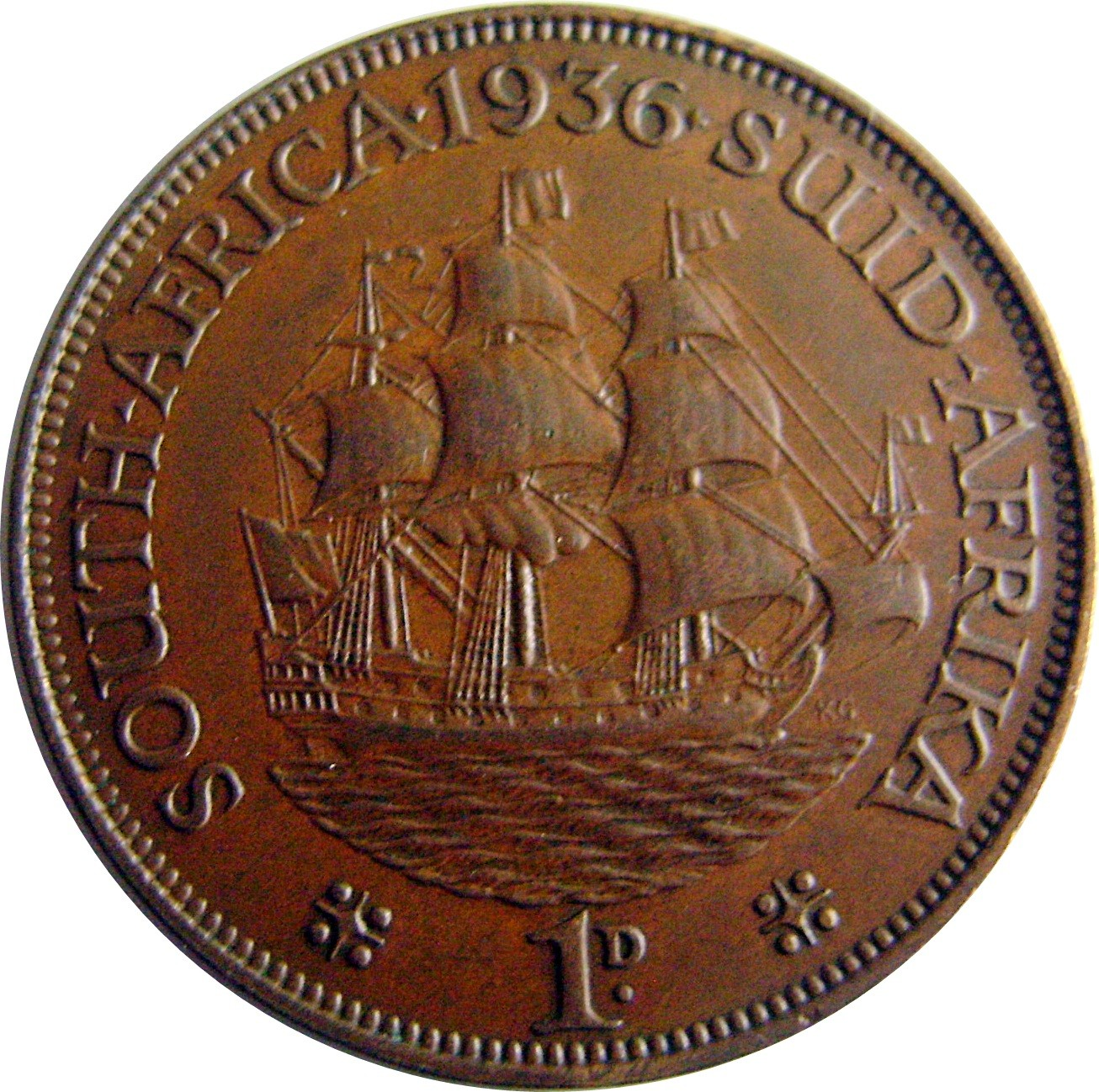 South Africa 1 Penny (1931-1936 George V)