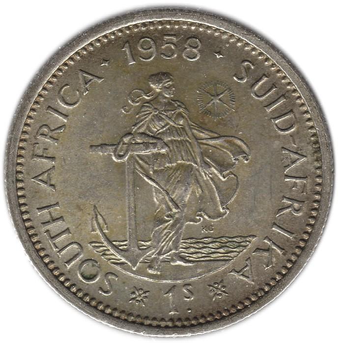 South Africa 1 Shilling (1953-1960 Elizabeth II)