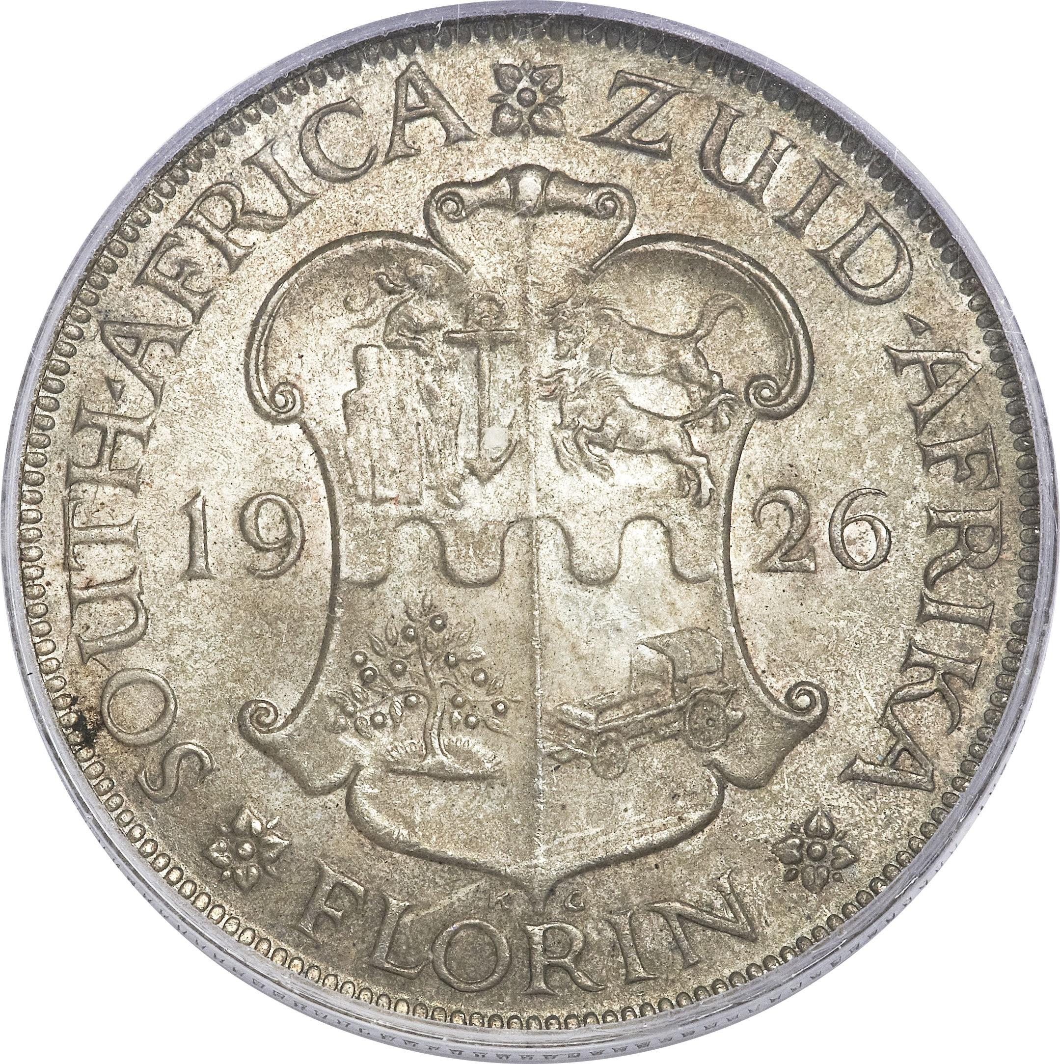 South Africa 1 Florin (1923-1930 George V)