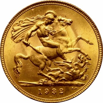 South Africa 1 Sovereign (1929-1932 George V-Modified Effigy)