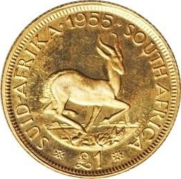 South Africa 1 Pound (1953-1960 Elizabeth II)