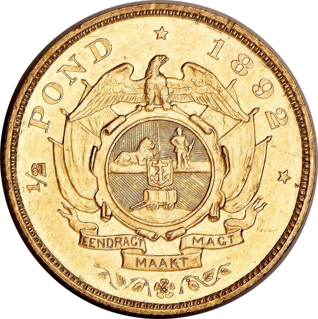 South Africa ½ Pond (1892-1897 Zuid Afrikaansche Republiek)