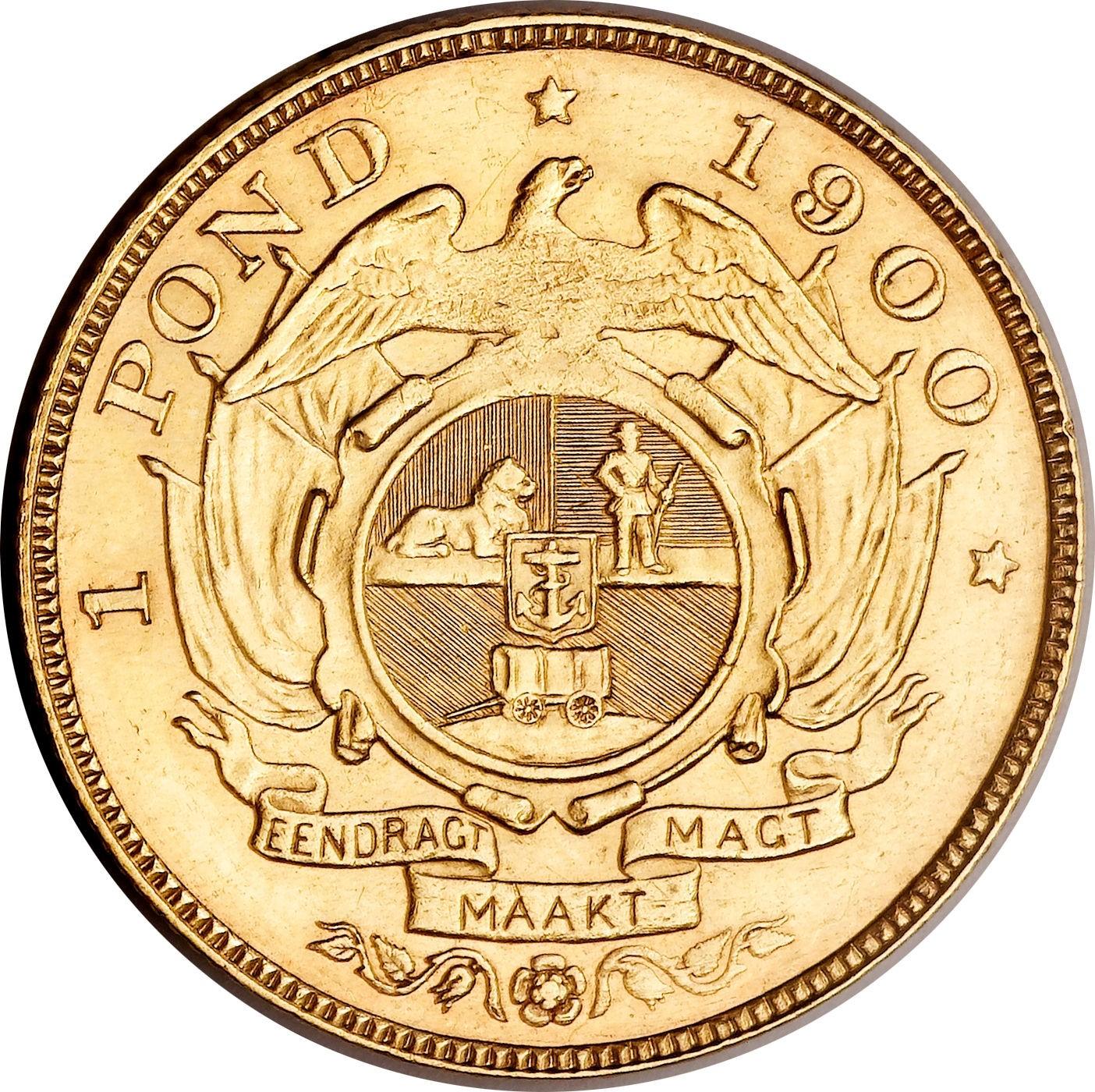South Africa 1 Pond (1892-1900 Zuid Afrikaansche Republiek)