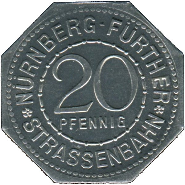 Germany 20 Pfennig (Famous German Robber Baron In The Middle Ages-Nürnberg-Fürther)