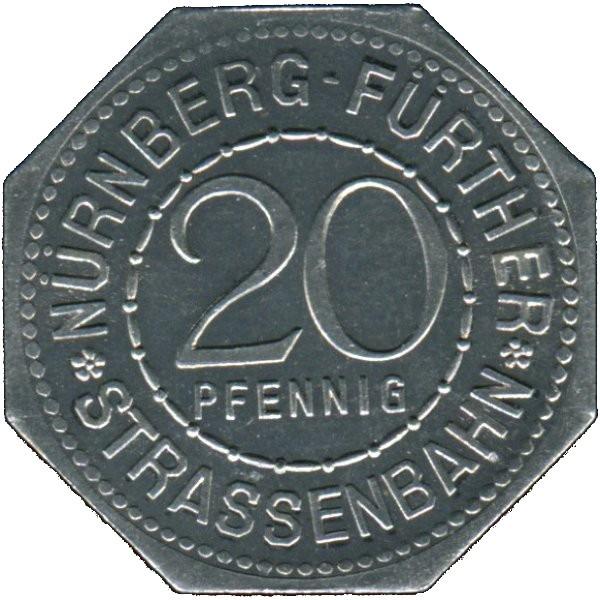 Germany 20 Pfennig (Famous German Robber Baron In The Middle Ages-Nürnberg-Fürther)
