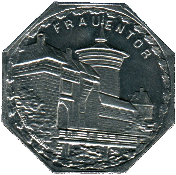 Germany 20 Pfennig (The Woman's Gate, the southeast main gate of the Nürnberg city walls-Nürnberg-Fürther)