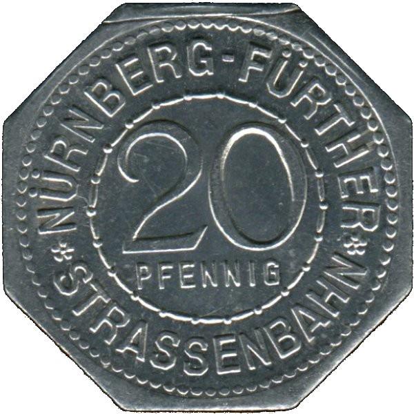 Germany 20 Pfennig (The Pentagonal Tower in Nürnberg-Fürther)