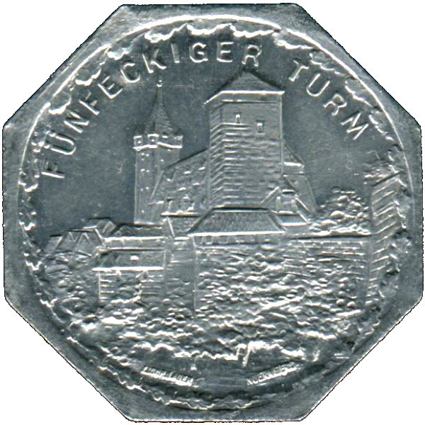 Germany 20 Pfennig (The Pentagonal Tower in Nürnberg-Fürther)