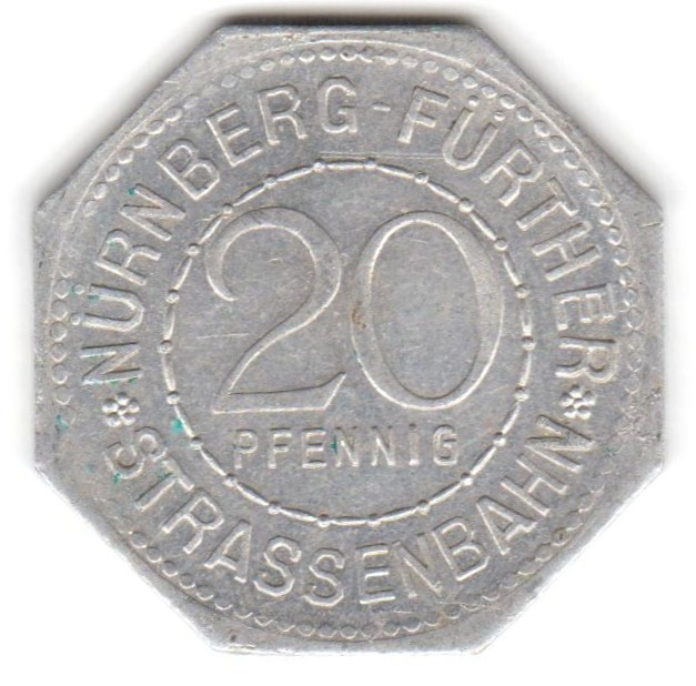 Germany 20 Pfennig (The Goose Man Fountain in Nuremberg-Fürther)