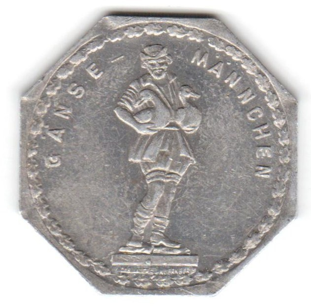 Germany 20 Pfennig (The Goose Man Fountain in Nuremberg-Fürther)