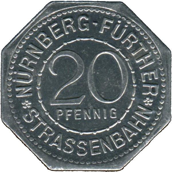 Germany 20 Pfennig (Hans Sachs-Nürnberg-Fürther)