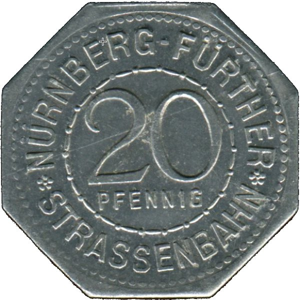 Germany 20 Pfennig (The Holy Spirit Hospital in Nürnberg-Nürnberg-Fürther)