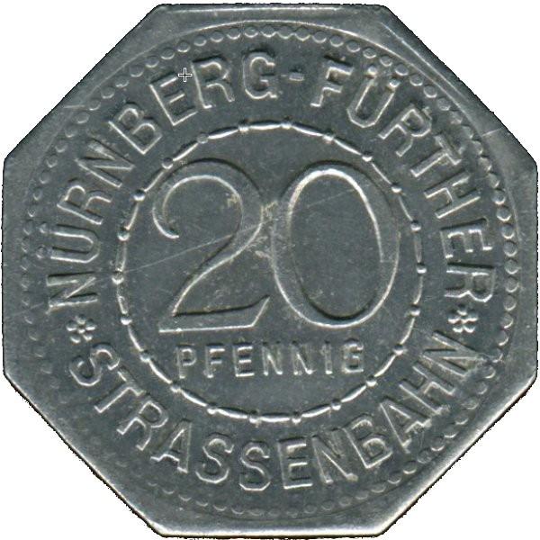 Germany 20 Pfennig (The Holy Spirit Hospital in Nürnberg-Nürnberg-Fürther)