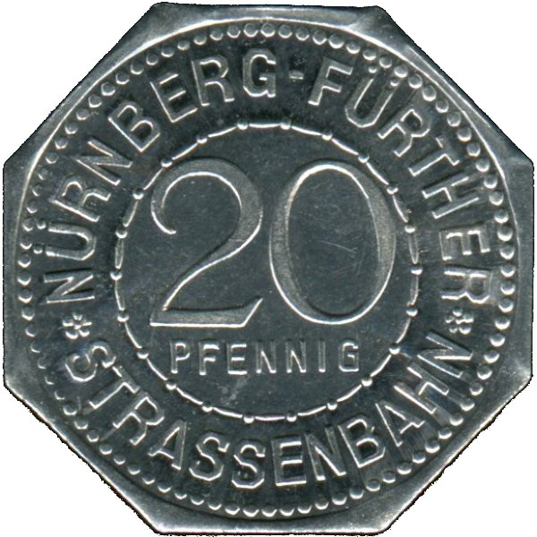 Germany 20 Pfennig (The Hangman's Bridge-Nürnberg-Fürther)