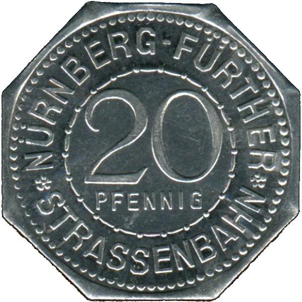 Germany 20 Pfennig (The Hangman's Bridge-Nürnberg-Fürther)