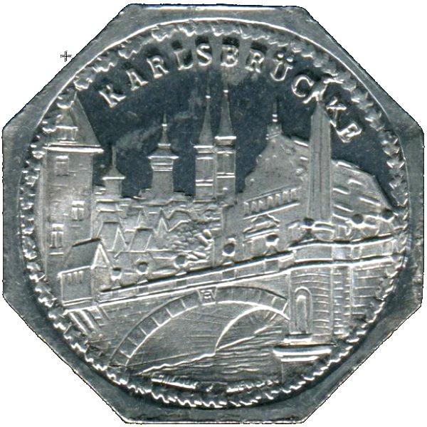 Germany 20 Pfennig (The Charles Bridge-Nürnberg-Fürther)