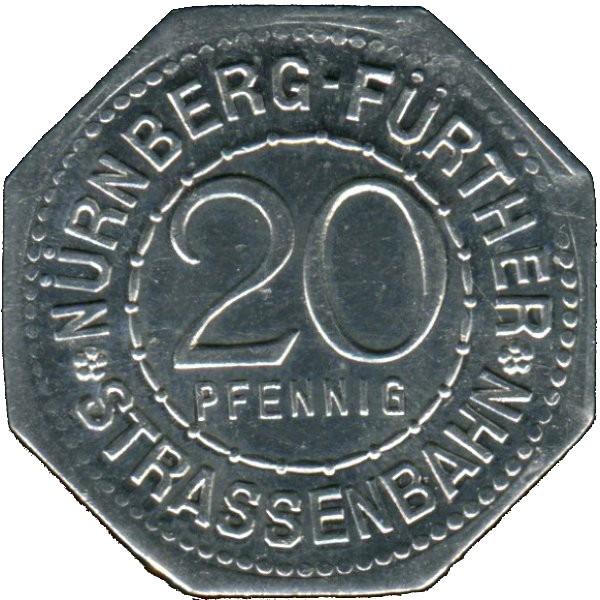 Germany 20 Pfennig (Albrecht Dürer-Nürnberg-Fürther)