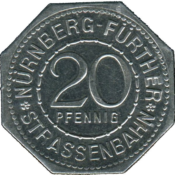 Germany 20 Pfennig (The Art Fountain in Fürth-Nürnberg-Fürther)