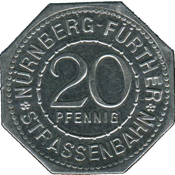 Germany 20 Pfennig (The Art Fountain in Fürth-Nürnberg-Fürther)