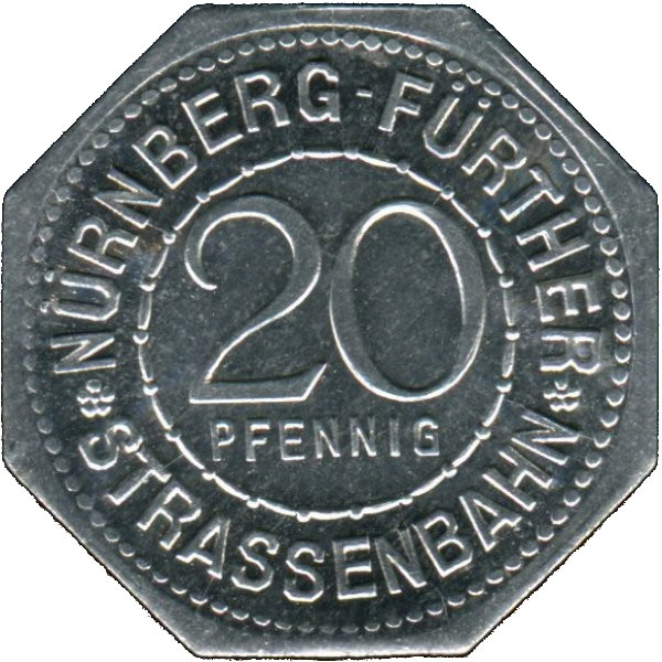 Germany 20 Pfennig (Martin Behaim-Nürnberg-Fürther)