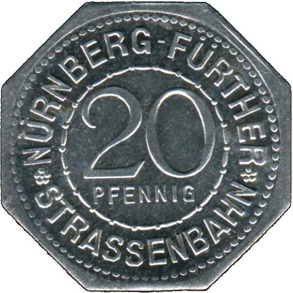 Germany 20 Pfennig (Martin Behaim-Nürnberg-Fürther)